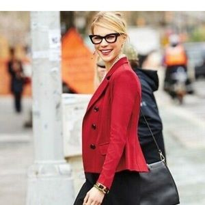 CAbi Outing Blazer Red Stretch Ponte Jacket #3175